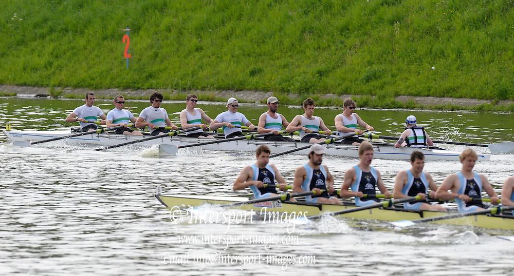Gent, BELGIUM,  Sat Mornings heats M8+ Commercial Club Ireland leading at the 1500 meters, International Belgian Rowing Championships, Saturday 09/05/2009, [Mandatory Credit. Peter Spurrier/InterGentImages]