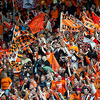 Ross County v Dundee United.....15.05.10   Scottish Cup Final<br /> Dundee United fans in Hampden<br /> Picture by Graeme Hart.<br /> Copyright Perthshire Picture Agency<br /> Tel: 01738 623350  Mobile: 07990 594431