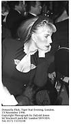 Donatella Flick. Tiger Star Evening. London. 15 November 1996<br /><br />Copyright Photograph by Dafydd Jones<br />66 Stockwell park Rd. London SW9 0DA<br />Tel. 0171 733 0108