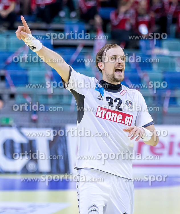02.11.2016, Arena Nova, Wiener Neustadt, AUT, EHF, Handball EM Qualifikation, Österreich vs Finnland, Gruppe 3, im Bild Gerald Zeiner (AUT)// during the EHF Handball European Championship 2018, Group 3, Qualifier Match between Austria and Finland at the Arena Nova, Wiener Neustadt, Austria on 2016/11/02. EXPA Pictures © 2016, PhotoCredit: EXPA/ Sebastian Pucher