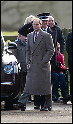 Prince Edward joins HM The Queen at church on the Sandringham Estate, Sunday December 30, 2012. Photo: Andrew Parsons / i-Images