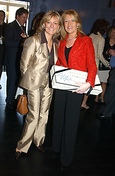 Left to right, JO MALONE and LOUISE KENNEDY at a fashion show with designs by Irish designer Louise Kennedy held in the Blue Bar, Berkeley Hotel, London on 12th May 2005.<br />