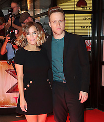 © London News Pictures. Caroline Flack, Olly Murs, The X Factor - press launch, Picturehouse Central, London UK, 26 August 2015, Photo by Richard Goldschmidt /LNP