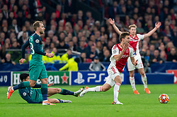 08-05-2019 NED: Semi Final Champions League AFC Ajax - Tottenham Hotspur, Amsterdam<br /> After a dramatic ending, Ajax has not been able to reach the final of the Champions League. In the final second Tottenham Hotspur scored 3-2 / Rasmus Kristensen #2 of Ajax, Donny van de Beek #6 of Ajax, Christian Eriksen #23 of Tottenham Hotspur, Son Heung-Min #7 of Tottenham Hotspur