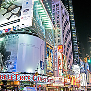Times Square, New York City, at night