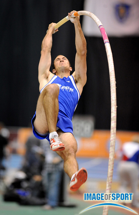 Feb 23, 2008; Boston, MA, USA; Jeff Ryan tied for sixth in the pole vault at 17-6 1/2 (5.35m) in the AT&T USA Track & Field Indoor Championships at the Reggie Lewis Center.