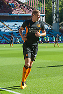 Michael Dawson of Hull City warms up prior to the Sky Bet Championship match at Villa Park, Birmingham<br /> Picture by Matt Wilkinson/Focus Images Ltd 07814 960751<br /> 05/08/2017