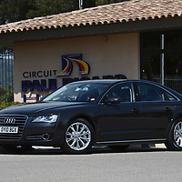 2010 Audi A8 FSi, Paul Ricard Curcuit, A8 Launch Le Castellet France