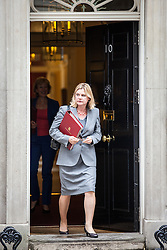 © Licensed to London News Pictures. 02/08/2016. London, UK. Education Secretary Justine Greening leaves Downing Street after a meeting of the Cabinet Committee on Economy and Industrial Strategy. Photo credit: Rob Pinney/LNP
