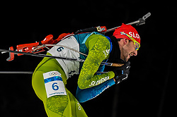 February 18, 2018 - Pyeongchang, Gangwon, South Korea - Jakov Fak of  Slovenia competing in  15 km mass start biathlon at Alpensia Biathlon Centre, Pyeongchang,  South Korea on February 18, 2018. (Credit Image: © Ulrik Pedersen/NurPhoto via ZUMA Press)