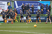 Cambridge United players warming up during the EFL Sky Bet League 2 match between Forest Green Rovers and Cambridge United at the New Lawn, Forest Green, United Kingdom on 20 January 2018. Photo by Shane Healey.