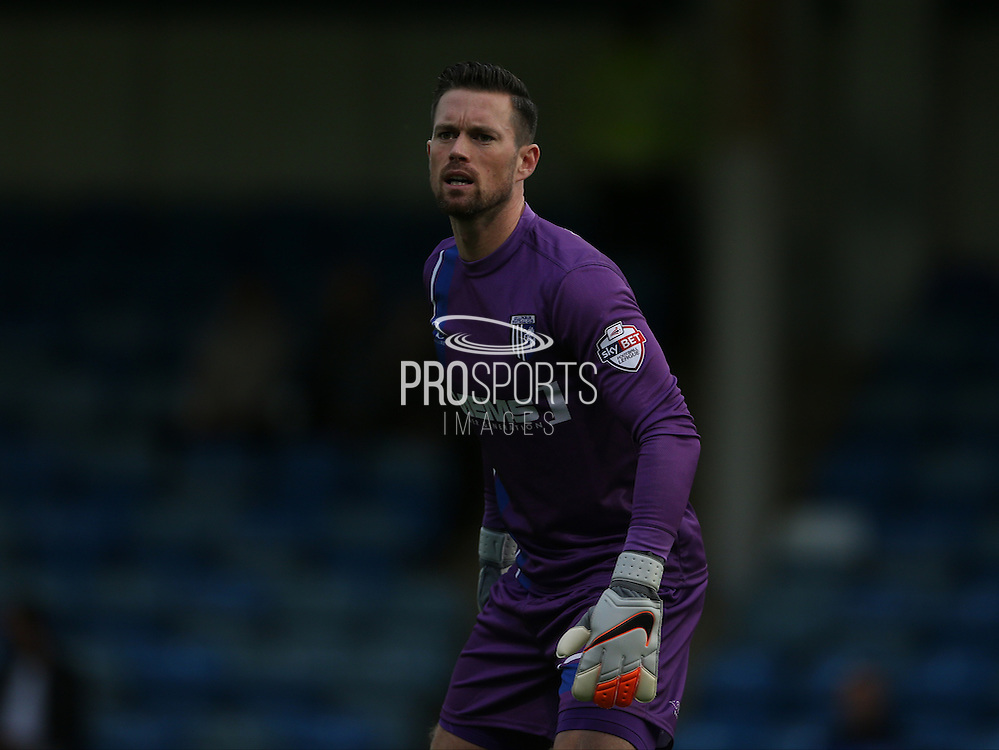Stuart Nelson during the Pre-Season Friendly match between Gillingham and Brighton and Hove Albion at the MEMS Priestfield Stadium, Gillingham, England on 29 July 2015.
