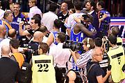 DESCRIZIONE : Campionato 2014/15 Serie A Beko Grissin Bon Reggio Emilia - Dinamo Banco di Sardegna Sassari Finale Playoff Gara7 Scudetto<br /> GIOCATORE : Federico Pasquini Sanders Rakim<br /> CATEGORIA : esultanza postgame<br /> SQUADRA : Banco di Sardegna Sassari<br /> EVENTO : Campionato Lega A 2014-2015<br /> GARA : Grissin Bon Reggio Emilia - Dinamo Banco di Sardegna Sassari Finale Playoff Gara7 Scudetto<br /> DATA : 26/06/2015<br /> SPORT : Pallacanestro<br /> AUTORE : Agenzia Ciamillo-Castoria/GiulioCiamillo<br /> GALLERIA : Lega Basket A 2014-2015<br /> FOTONOTIZIA : Grissin Bon Reggio Emilia - Dinamo Banco di Sardegna Sassari Finale Playoff Gara7 Scudetto<br /> PREDEFINITA :