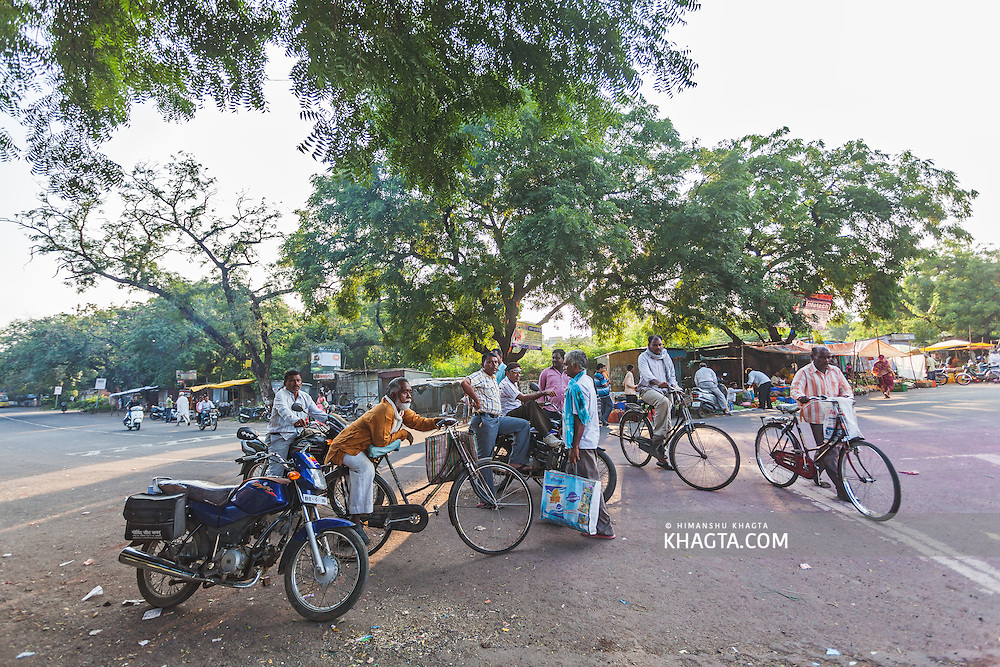 Small town of Sewagram in Wardha, Maharasthra, India