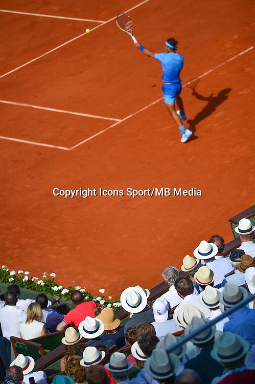 Illustration chapeaux / Rafael NADAL - 03.06.2015 - Jour 11 - Roland Garros 2015 <br />Photo : Dave Winter / Icon Sport
