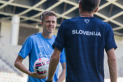 Josip Ilicic and Srecko Katanec, head coach of National footbal team Slovenia during practice session of Slovenian National Football Team before Euro 2016 Qualifications match against Switzerland, on September 1, 2015 in SRC Stozice, Ljubljana, Slovenia. Photo by Urban Urbanc / Sportida