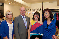 Elaine Devlin, staff, Anthony Ryan with Lynn McLoughlin staff  and Ciara Dorgan staff, the new United Colors of Benetton Store in Anthony Ryan's. Photo:Andrew Downes