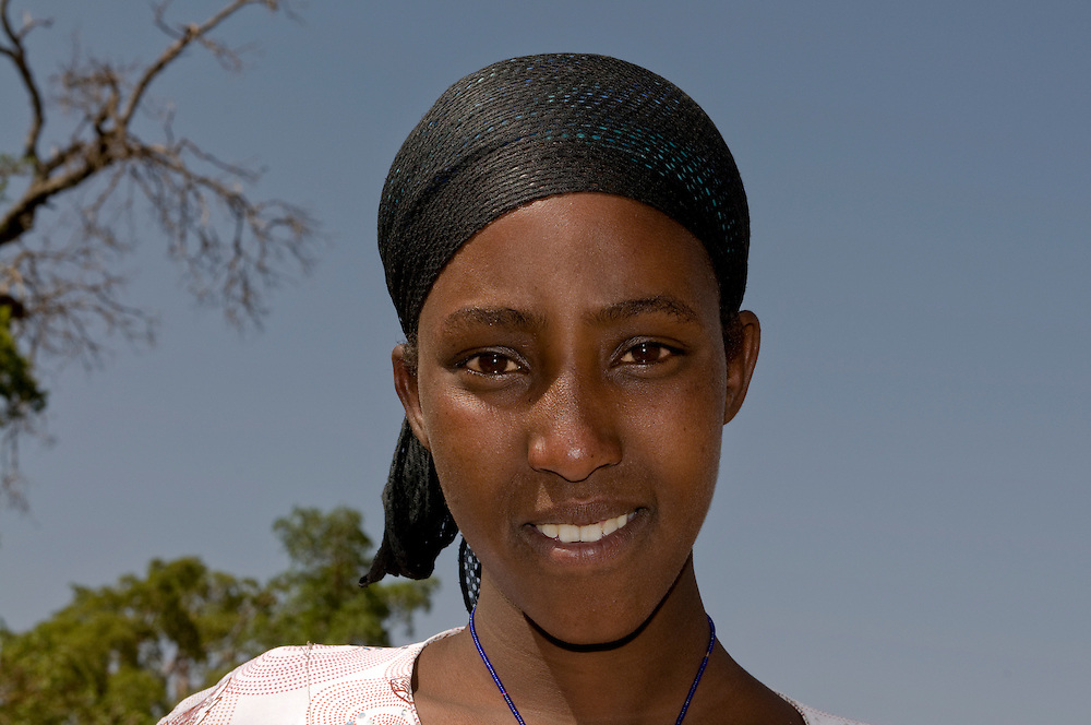 Young muslim woman, Bale moutains,Ethiopia,Africa