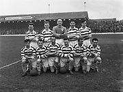 22/02/1961 <br /> 02/22/1961<br /> 22 February 1961<br /> Soccer, F.A.I. Cup 1st round replay: Limerick v Shamrock Rovers at Glenmalure Park, Milltown. the Shamrock Rovers team.