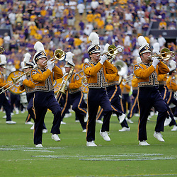 19 September 2009:  The LSU Tigers Band performs on the field before the start of a 31-3 win by the LSU Tigers over the University of Louisiana-Lafayette Ragin Cajuns at Tiger Stadium in Baton Rouge, Louisiana.