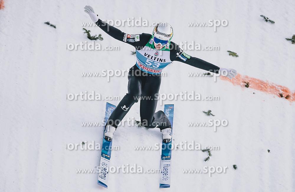 31.12.2019, Olympiaschanze, Garmisch Partenkirchen, GER, FIS Weltcup Skisprung, Vierschanzentournee, Garmisch Partenkirchen, Qualifikation, im Bild Timi Zajc (SLO) // Timi Zajc of Slovenia during his qualification Jump for the Four Hills Tournament of FIS Ski Jumping World Cup at the Olympiaschanze in Garmisch Partenkirchen, Germany on 2019/12/31. EXPA Pictures © 2019, PhotoCredit: EXPA/ JFK