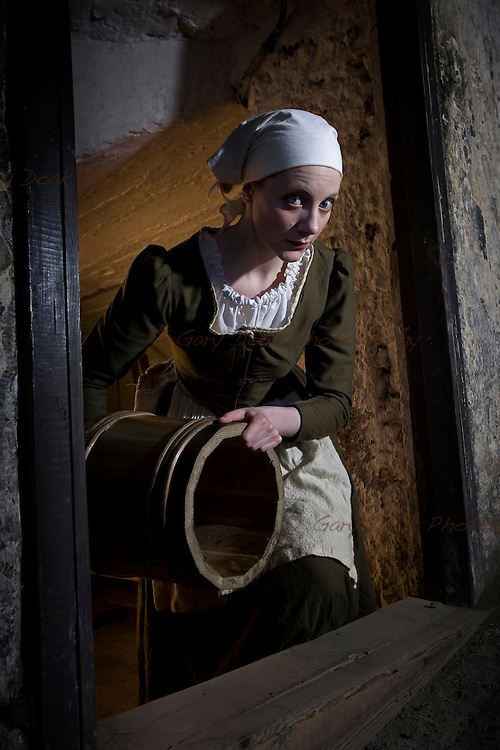 The Maid. A character study for The Real Mary King's Close, Edinburgh.