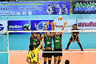 BANGKOK, THAILAND - MARCH 01: Air Force VC in action during the 2016–17 Men's Volleyball Thailand League Championship, Chantarubeksa Air Force Stadium, Bangkok, Thailand on October 01, 2017.<br /> .<br /> .<br /> .<br /> (Photo by: Naratip Golf Srisupab/SEALs Sports Images)<br /> .<br /> Any image use must include a mandatory credit line adjacent to the content which should read: Naratip Golf Srisupab/SEALs Sports Images