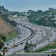 Aerial view of  San Diego Freeway