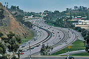 Aerial view of  San Diego Freeway