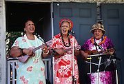 Women playing Ukulele, Hawaii
