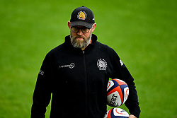 Rob Hunter prior to kick off - Mandatory by-line: Ryan Hiscott/JMP - 21/09/2019 - RUGBY - Sandy Park - Exeter, England - Exeter Chiefs v Bath Rugby - Premiership Rugby Cup