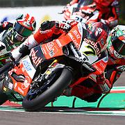 Imola 13/05/2018, Autodromo Enzo e Dino Ferrari<br /> Campionato mondiale Superbike 2018<br /> Gara 2<br /> Chaz Davies ( Ducati Aruba.it Racing )