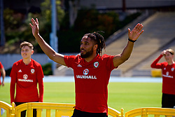 LOS ANGELES, USA - Saturday, May 26, 2018: Wales' captain Ashley Williams during a training session at the UCLA Drake Track and Field Stadium ahead of the International friendly match against Mexico. (Pic by David Rawcliffe/Propaganda)