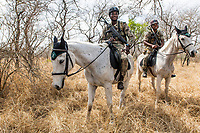 Counter-poaching horse patrol, Kruger National Park, South Africa