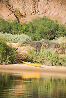 Canoe reflections in The Black Canyon, Nevada.