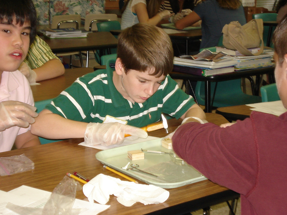 Attached are two pictures of the virtual surgery in the computer lab, four pictures of making the knee joint models, and one picture from Ironton if these are of any use to either of you or (Mrs. Wise) if you would like to include any of them on your CD (except they are of preparations, not the actual day at OU).