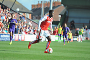 Fleetwood Town striker Devante Cole (44) on the attack during the EFL Sky Bet League 1 match between Fleetwood Town and Charlton Athletic at the Highbury Stadium, Fleetwood, England on 10 September 2016. Photo by John Marfleet.