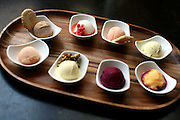 A selection of sorbets at Brownstone restaurant in Fort Worth, TX.