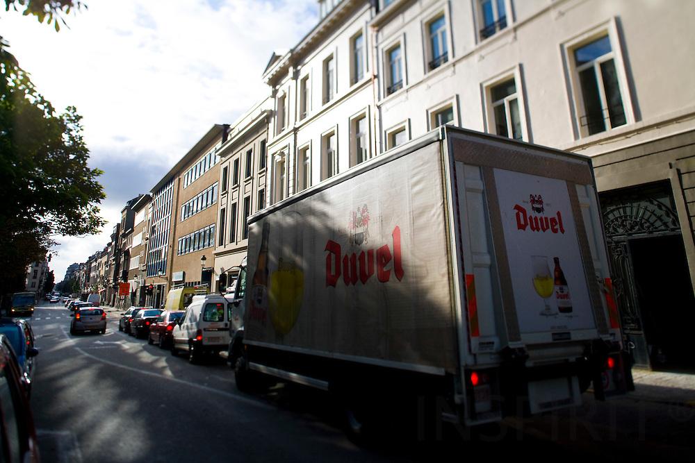 BRUSSELS - BELGIUM - 2 OCTOBER 2008 -- A beer truck from Duvel.  Photo Erik LUNTANG / EUP-Images