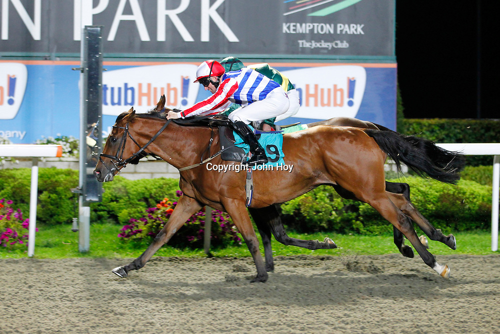 Supercillary and Pat Dobbs winning the 9.00 race