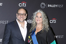 March 16, 2019 - Los Angeles, CA, USA - LOS ANGELES - MAR 16:  Howard J. Morris, Marta Kauffman at the PaleyFest - ''Grace and Frankie'' Event at the Dolby Theater on March 16, 2019 in Los Angeles, CA (Credit Image: © Kay Blake/ZUMA Wire)