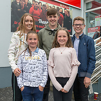 Cousins Caoimhe, Jason, Eoin, Katelynne and Tara Gerraty at the official opening of Gerraghty's Spar in Turnpike