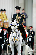 Cavalry Officer at passing out graduation parade at Sandhurst Military Academy, Sandhurst, Surrey