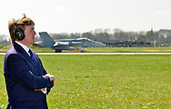 LEEUWARDEN King Willem-Alexander  paid a working visit to the exercise Frisian Flag at Leeuwarden Air Base. He was received by the Commander of the Air Force, Lieutenant General Alexander Schnitger and Leeuwarden Air Base commander, Colonel Gerbe Verhaaf. COPYRIGHT DEFENSIE HANDOUT EDITORIAL - USE ONLY - NO SALES - MANDITORY CREDIT