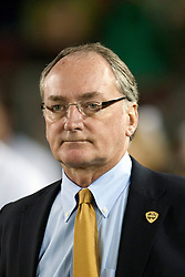 November 28, 2009; Stanford, CA, USA;  Notre Dame athletic director Jack Swarbrick on the sidelines during the fourth quarter against the Stanford Cardinal at Stanford Stadium.  Stanford defeated Notre Dame 45-38.   Mandatory Credit: Jason O. Watson-US PRESSWIRE