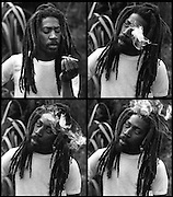 Bunny Wailer on his Farm in Hectors River Portland Jamaica. 1978