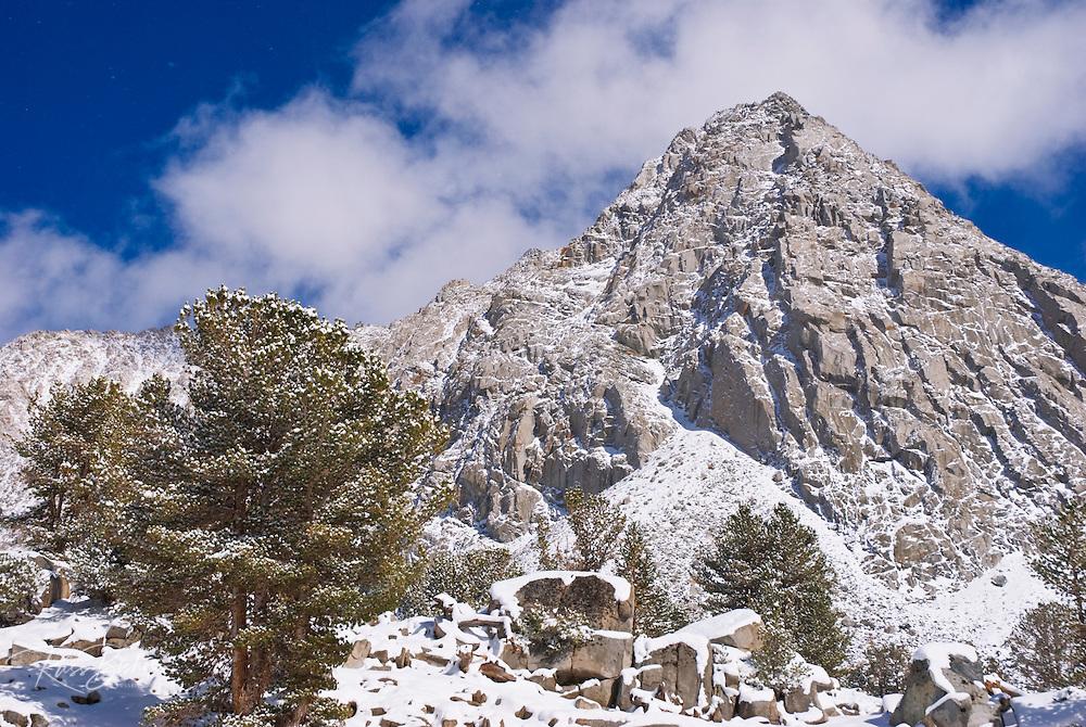 Mount Morgan after a winter storm, John Muir Wilderness, Sierra Nevada Mountains, California