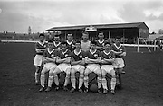 20/03/1963<br /> 03/20/1963<br /> 20 March 1963<br /> Soccer: Transport v Limerick, Cup tie replay at Harold's Cross, Dublin. The Limerick team.