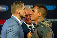 20-9-2018 AMSTERDAM - Heavyweights Rico Verhoeven and the Brazilian Guto Inocente during a press conference prior to their fight in the Johan Cruijff ArenA. It is the main game of the program that promoter Glory has put together. copyrught robin utrecht