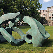 "Henry Moore's ""Hill Arches"" (1973) at the ""Moore in America"" exhibition at the New York Botanical Garden in June 2008"